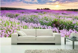 3d wallpaper custom photo non-woven mural wall sticker picture 3 d The ocean of lavender flowers painting 3d wall room murals wallpaper