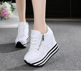 Women Pumps Wedges Super High Heels 11CM Lacing Casual Shoes For Ladies Girls 2016 Spring Autumn Women's Party Pump