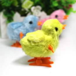 Wholesale New children s educational baby chicken stuffed on the chain clockwork toys for kids gifts and retail