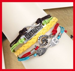 Wholesale charms jewelry bracelets charms infinity bracelet for women and men Anchor cross owl Branch love bird believe styles