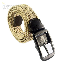 Wholesale Woven Elastic Mens Belts Needle Buckle Straps Active Casual Style with Jeans Slacks Belts for Men New Brand