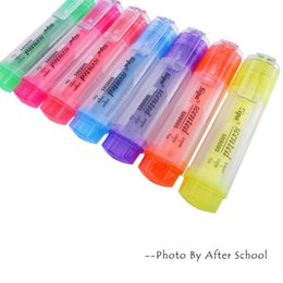 Wholesale pc Creative Stationery Colorful Aroma Rainbow Highlighter Copic Markers Pen Graffiti Sign Pens Highlighters Watercolor Pen