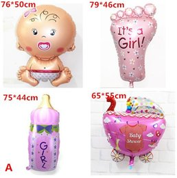 Wholesale 4pcs mix Angel Baby foil balloon baby shower balloon for newborn birthday decoration stroller air balloons helium baloes