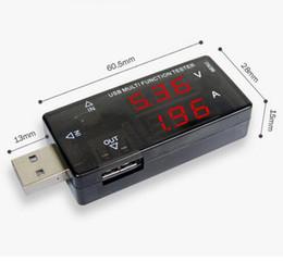 Wholesale Pantalla comprobador multifunción USB Digital V V mini cargador de voltaje actual probador Capacidad metro Banco de potencia USB Doctor