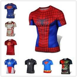 Wholesale 2016 T Shirt Superman Batman Spider Man Captain America Hulk Iron Man T Shirts For Men Fitness Coalition Of The Vengeance Poloshirt Shirt