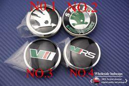 Wholesale 20pcs mm SKODA Car Wheel Center Cover Hub Cap for VW Octavia Fabia Yeti