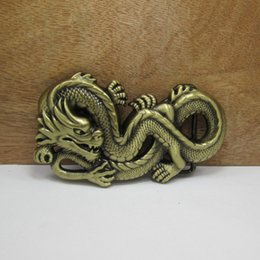 Wholesale BuckleHome fashion dragon belt buckle animal belt buckle with antique brass plating FP