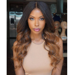130% Density 1B #30 Ombre Full Lace Wigs Human Hair Two Tone With Baby Hair Glueless Full Lace Wigs Brazilian For Women