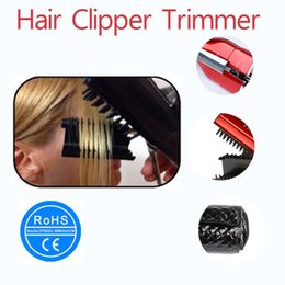 Wholesale Cordless Split and Damaged Hair Trimmer Auto Splitting Hair Cutting Machine Rechargeable Hair Trimmer US EU UK AU Red Black
