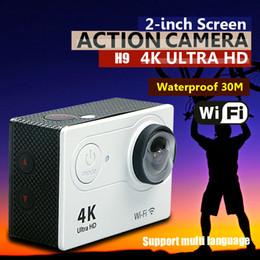 Wholesale H9 Action camera H9 Ultra HD K WiFi P fps LCD D lens Helmet Cam underwater waterproof go pro camera SJ4000