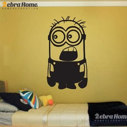 Wholesale Cartoon Pictures For Kids Room - DIY Art Cute Little Black Children Bedroom Home DIY Wacky Wall Stickers Pictures Baby Nursery Room Decal Mural Wallpaper Whimsy