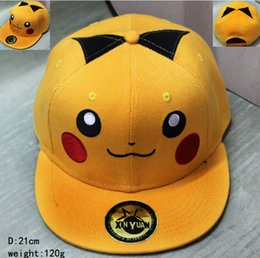 Wholesale Poke Hats cap Adult Ball caps ports Hip Hop Picacho snapbacks Cotton Baseball Unisex Poke Ash Ketchum Trainer Hat Cap KKA508