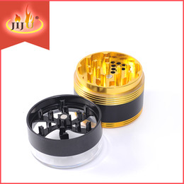 Wholesale Aluminum Gold Herb Grinder Smoking Grinders Color With Blanck And Gold parts grinder Easy To Use Smoking Grinder