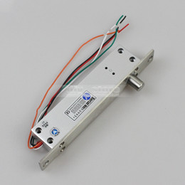 Wholesale Fail Secure Narrow Door Electric Bolt Lock W singal Time Open Wire NO Model for Access Control System