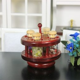 Wholesale G06 X529 children baby gift Toy Dollhouse mini Furniture Miniature rement Big Wheel spice rack