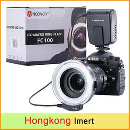Wholesale Meike FC FC100 Manual LED Macro Ring Flash Light with Adapter Ring for Canon Nikon Olympus Pentax Digital DSLR Camera