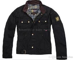 2017 chaquetas de los hombres de cera Prendas de vestir exteriores de la cera de los hombres de la chaqueta de la motocicleta de la chaqueta del hombre de Wholesale-steve de calidad superior La chaqueta del roadmaster chaquetas de los hombres de cera en oferta
