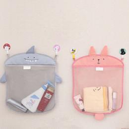 Wholesale 200pcs Baby Toy Mesh Storage Bag Bath Bathtub Doll Towel Cream Organizer Suction Bathroom Stuff Net ZA0756