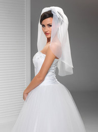 New High Quality Best Sale Elbow Length Luxury White Ivory Sequined Mantilla Veil Bridal Head Pieces For Wedding Dresses