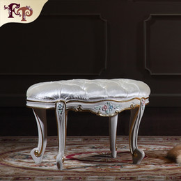 European Rococo furniture- High end classic bedroom foot stool-classic wood furniture-royal furniture - home furniture Free shipping