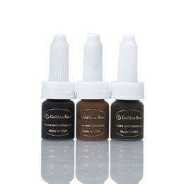 3pcs Deep dark brown Coffee Tattoo Ink Golden Rose Permanent Makeup Ink Pigment For Eyebrow Lip Tattoo with 12 Colors to Choose