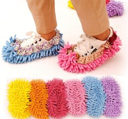 Wholesale Dust Cleaning Slippers Multifunction Mop Shoe Cover Dust Mop Slipper House Cleaner Floor Men Sandals Flip Flops Slipper Housekeeper Shoes