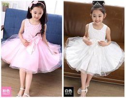 New Arrival Children Wedding Dresses With Knee-Length Lolita Girls Princess Lace Tutu Dress European & American Style Big Size 100cm-150cm