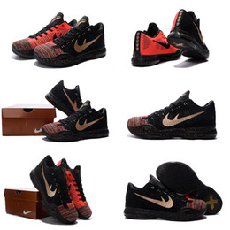 Wholesale with shoes Box Bryant Kobe X KB Men Basketball Shoes Elite Low Rings Xmas Christmas Kids shoes