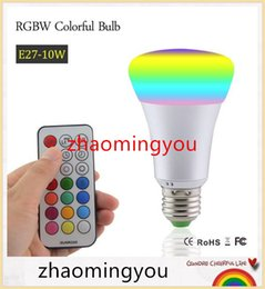 YON E27 RGBW LED Bulb 10W AC 85-265V RGB and White Led Lamp with IR Timing Remote Control Multiple Colour Led RGB Lamp