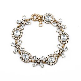 Crystal Xoxo Bracelet Teardrop Floret Link Bracelets Petal Charms Vintage Gold Plated Hot Popular for Lady Free Shipping