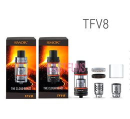 Wholesale Original SMOK TFV8 Top Refilling atomizer CLOUD BEAST ml cloud TFV8 SubOhm Tank mm Diameter Best Match Smok Koopor Primus W Mod