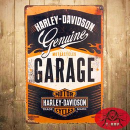 Wholesale Vintage Tin Metal signs Genuine Motorcycle Garage Bar Shop Cafe Pub Home Decor Craft Wall Painting