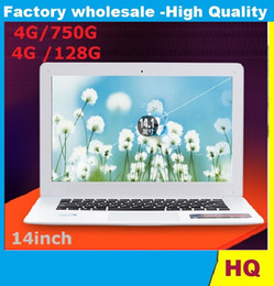 14inch Laptop Dual Core Win 7 8 4G HDD 750G ROM Laptop Intel Atom J1800 X64 Ultra thin Airbook Netbook Laptops