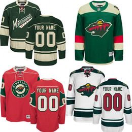 Wholesale Custom Minnesota Wild Jerseys Authentic personalized Cheap Hockey Jerseys Any Number Name Embroidery Logos size S XL