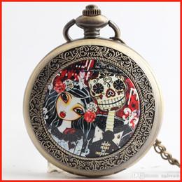Pesadilla Antes de bolsillo antiguo de Navidad relojes collares relojes de cuarzo reloj medallón flip mujeres mujeres niños regalo de Navidad 230211 desde mujer del reloj del collar fabricantes