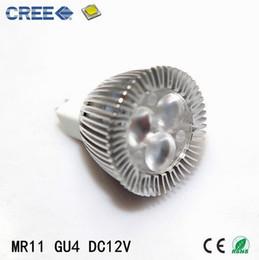 Gu4 conduit en Ligne-Mr11 ampoule LED 35mm diamètre 3w 12v lumineux mini CREE LED Mr11 projecteur ampoule GU4 LED lampe Livraison gratuite