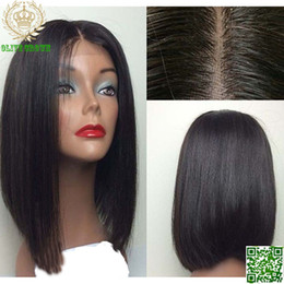 Unprocessed Malaysian Hair Silk Top Bob Full Lace Wigs Vigin Silk Straight Glueless Human Hair Lace Front Wig