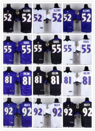 Wholesale Baltimore football Jerseys Ravens Rugby Jerseys R LEWIS SUGGS BOLDIN NGATA white black blue FREESHIPPING