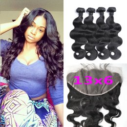 Wholesale 13x6 Ear To Ear Lace Frontal Closure With Bundles Virgin Body Wave Brazilian Hair Lace Frontals With Baby Hair