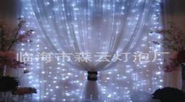 Wedding Decorations party & Decorative lights Curtain light ice light, 3 meters 300LED wedding decoration string 3*3M star light strip warm