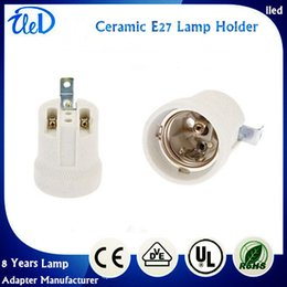 Wholesale Porcelain lamp socket E27 ceramics lamp holder