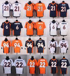 Wholesale 56 Shane Ray Ronnie Hillman Jacob Tamme Ryan Clady Steve Atwater Blue Orange White New Football Jerseys