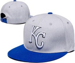 Descuento sombreros de los deportes de la ciudad Nueva llegada KC Kansas City Royals Baseball Cap Frente Logo ajustable del sombrero del casquillo del sudor del deporte adulto con la caja de la LH