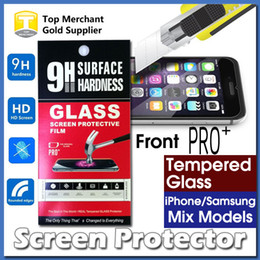 Wholesale Best Ultra Thin PRO Tempered Glass Screen Protector High quality For iPhone S Plus Zmax pro G360 On5 J7 LG K7 with retail package