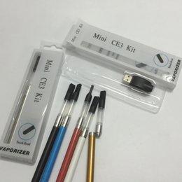 Wholesale Colorful Mini Bud Touch Blister CE3 Starter Kits mAH Auto Battery ML Bud Touch Wax Oil O Pen Cartridge Tank