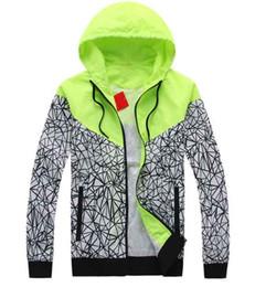 Wholesale 2016 new Men s sportswear windrunner Men sports jacket waterproof jacket Hoodie Jacket men s ats green