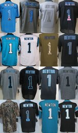 Wholesale Cam Newton Carolina Black Green White Grey Salute TO Service Drift USA Flag Fashion Gridiron light out Impact Platinum Jerseys free shi