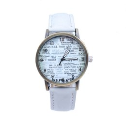 Wholesale Folk style denim casual fashion watch watchband newspaper universal table watch of personality