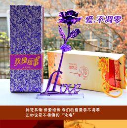 2017 regalos para los amigos El mejor regalo Regalo de cumpleaños del regalo del día de madre para enviar los equipos K24 rosas del papel de oro para enviar a su familia para enviar a los amigos regalo amor nunca se marchita regalos para los amigos limpiar