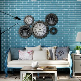 Wholesale Mix Order Vintage Embossed Textured D Effect Brick Wall Paper Roll Vinyl Modern Brick Wallpaper For Living room Background Wallcovering